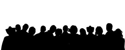 Vector silhouette of anonymous people. Stock Photos