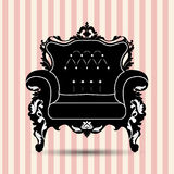 Vector silhouette of armchair Royalty Free Stock Photography