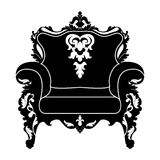 Vector silhouette of armchair Stock Photos