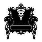 Vector silhouette of armchair Stock Photos