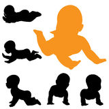 Vector silhouette of baby. Stock Photography
