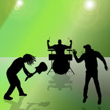 Vector silhouette of the band. Stock Photography