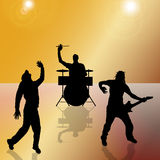 Vector silhouette of the band. Vector silhouette of the band on a colored background Stock Photography