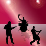 Vector silhouette of the band. Vector silhouette of the band on a colored background Royalty Free Stock Image