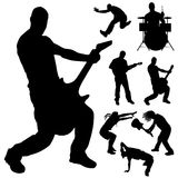 Vector silhouette of the band. Stock Image