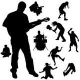 Vector silhouette of the band. Royalty Free Stock Photo