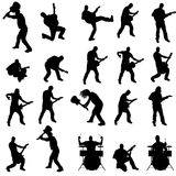 Vector silhouette of the band. Stock Photos