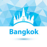 Vector silhouette of Bangkok, Thailand. Stock Photography