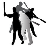 Vector silhouette baseball. Royalty Free Stock Photography