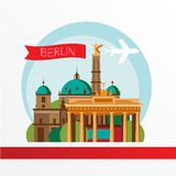 Vector silhouette of Berlin Germany. City skyline. Royalty Free Stock Images