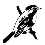 Vector silhouette of the bird Stock Images