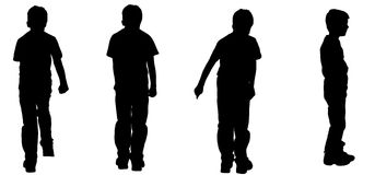 Vector silhouette of a boy. Royalty Free Stock Image