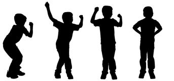 Vector silhouette of a boy. Royalty Free Stock Images