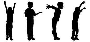Vector silhouette of a boy. Royalty Free Stock Photos