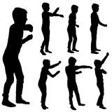 Vector silhouette of boy. Royalty Free Stock Photography