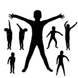 Vector silhouette of boy. Stock Photography
