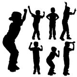 Vector silhouette of boy. Royalty Free Stock Photo