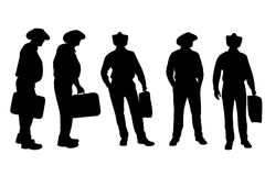 Vector silhouette of businesman. Royalty Free Stock Photos