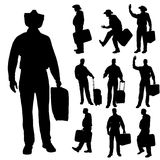 Vector silhouette of businesman. Stock Photography