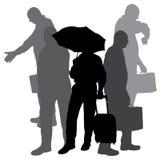Vector silhouette of businesman. Stock Photos