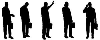Vector silhouette of businesman. Royalty Free Stock Photos