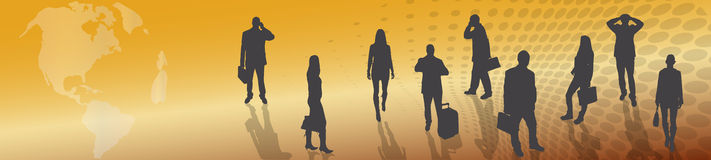 Vector silhouette of business people. Stock Photography
