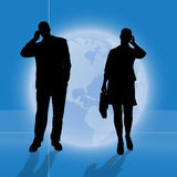 Vector silhouette of business people. Stock Photos