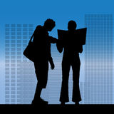 Vector silhouette of a business people. Royalty Free Stock Photo