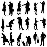 Vector silhouette of business people. Royalty Free Stock Image