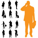 Vector silhouette of business people. Stock Photo