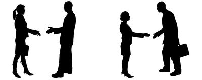 Vector silhouette of business people. Royalty Free Stock Photography