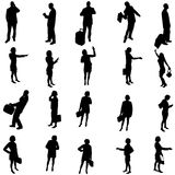 Vector silhouette of business people. Stock Image