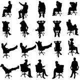 Vector silhouette of business people. Royalty Free Stock Photos