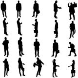 Vector silhouette of business people. Stock Images