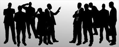 Vector silhouette of businessman. Royalty Free Stock Image
