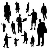 Vector silhouette of businessman. Stock Photography