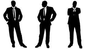 Vector silhouette of businessman. Stock Image