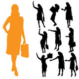 Vector silhouette of businesswoman. Royalty Free Stock Photo