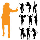 Vector silhouette of businesswoman. Stock Photo