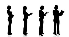 Vector silhouette of a businesswoman. Royalty Free Stock Image