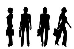 Vector silhouette of businesswoman. Royalty Free Stock Images