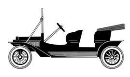Vector silhouette car Stock Photos