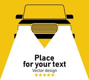 Vector silhouette of car. vector illustration