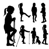 Vector silhouette of child. Stock Image