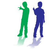 Vector silhouette of children. Royalty Free Stock Image