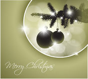 Vector silhouette of a Christmas tree Stock Photo