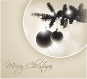 Vector silhouette of a Christmas tree Royalty Free Stock Photos