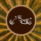Vector Silhouette of classic motorcycle. moto icon Stock Image
