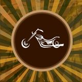 Vector Silhouette of classic motorcycle. moto icon Stock Images