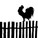 Vector silhouette of the cock Stock Photos
